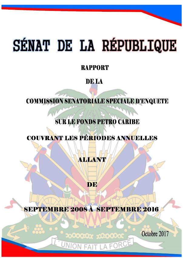 Voorblad van het Rapport Petro Caribe