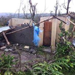 Vernielde huizen en tuinen
